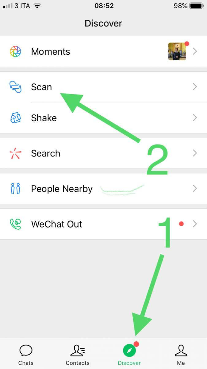 how to find wechat qr codes