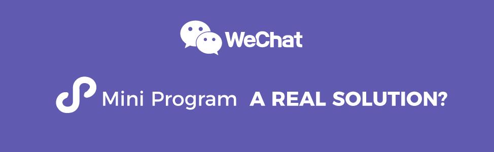 WeChat App VS WeChat Mini Program