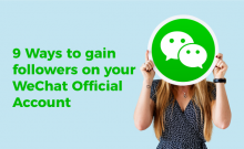 how to get followers for WeChat company page